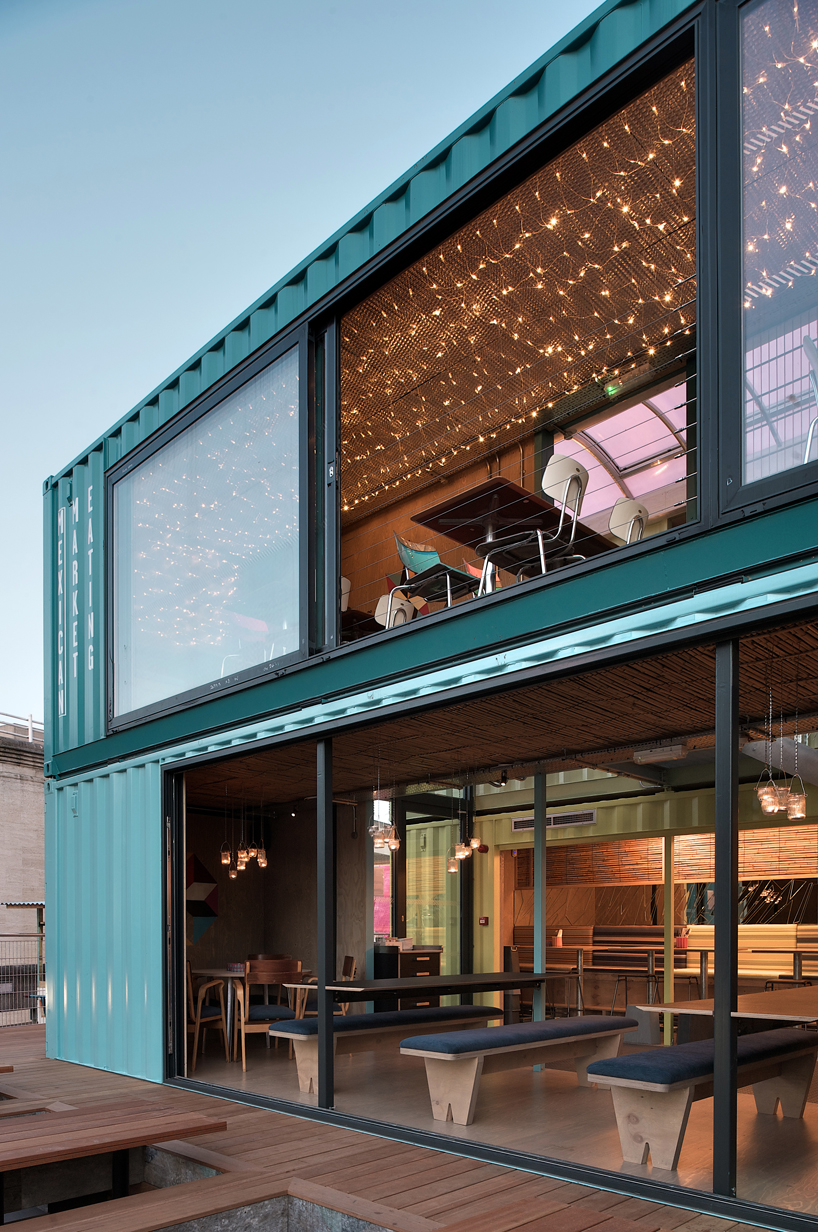 Haus Container The New Wahaca Pop Up Project A Shipping Container Restaurant In
