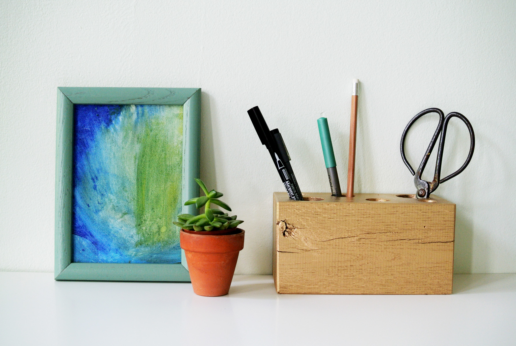 Homemade Pencil Holders Diy Gilded Pencil Holder