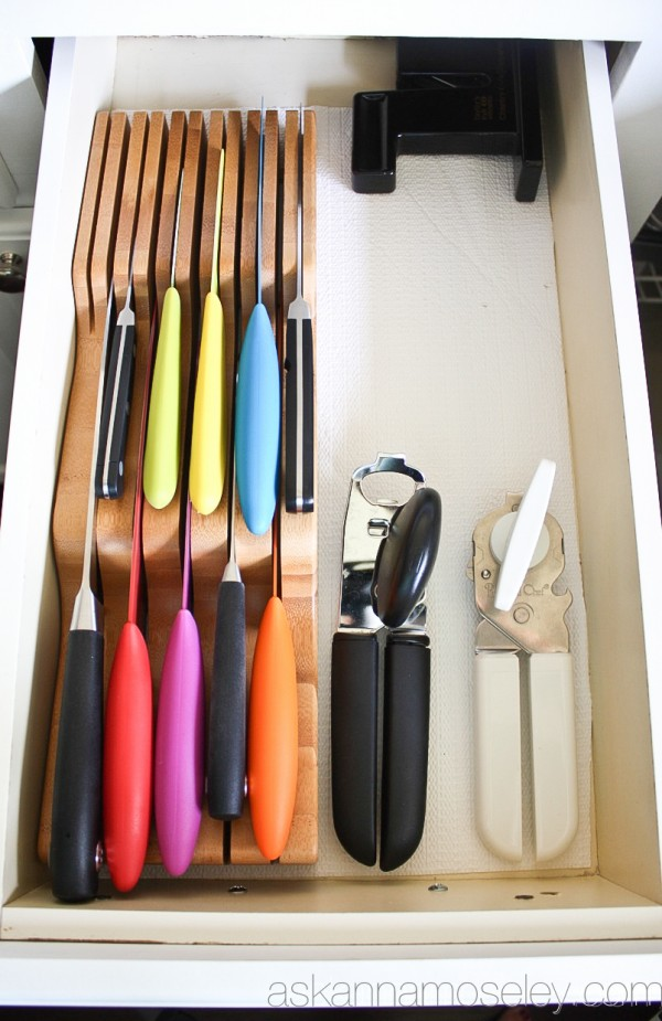 Kitchen Drawer Knife Organizer 65 Ingenious Kitchen Organization Tips And Storage Ideas
