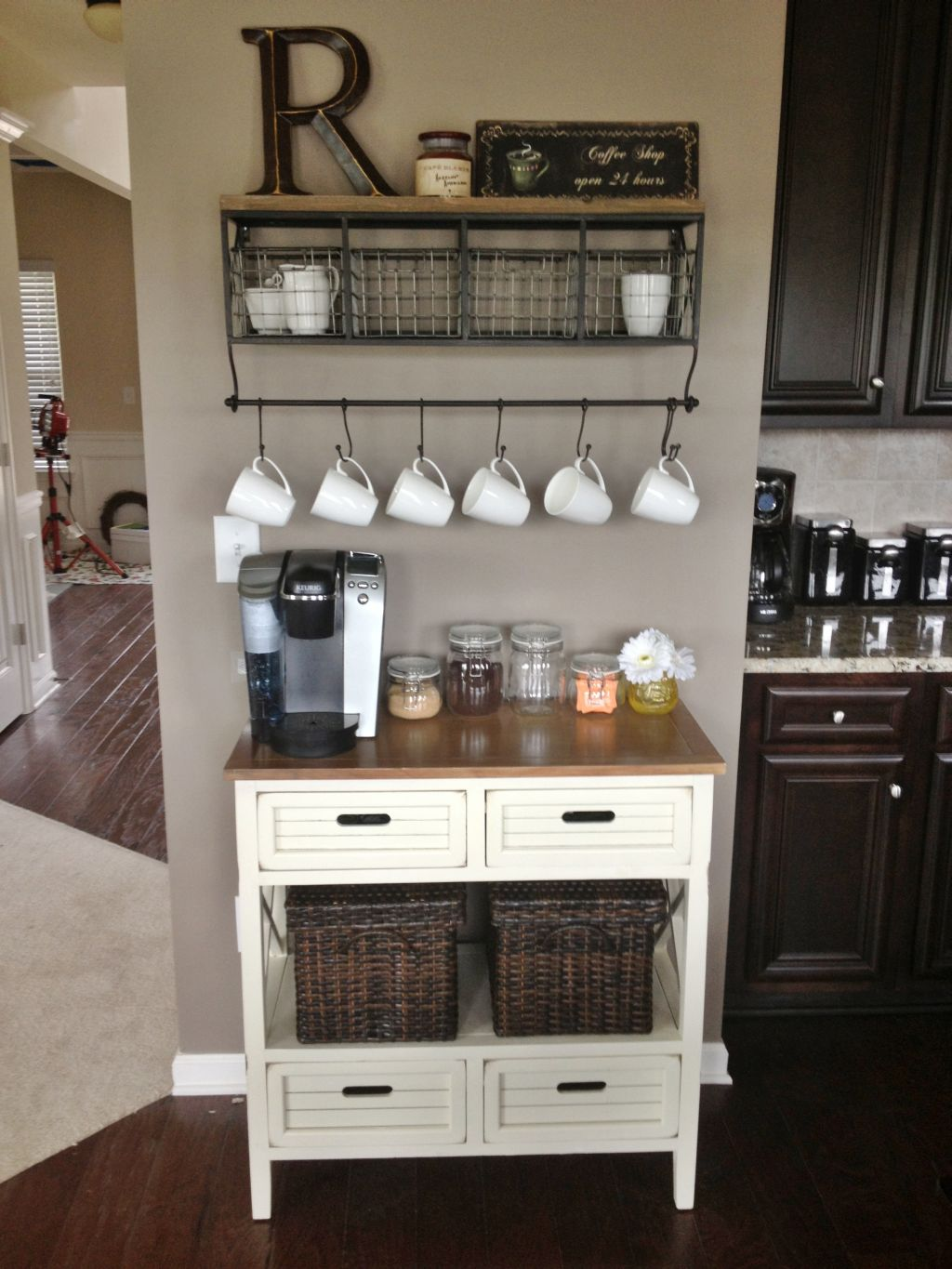 Coffee Station Adorable Stylish At Home Coffee Stations