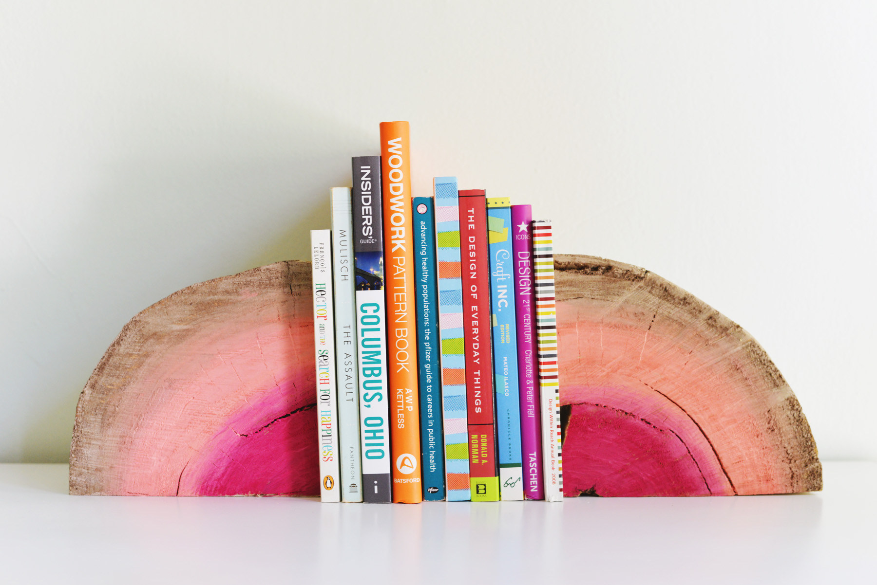 Bookends Book Diy Half Log Bookends