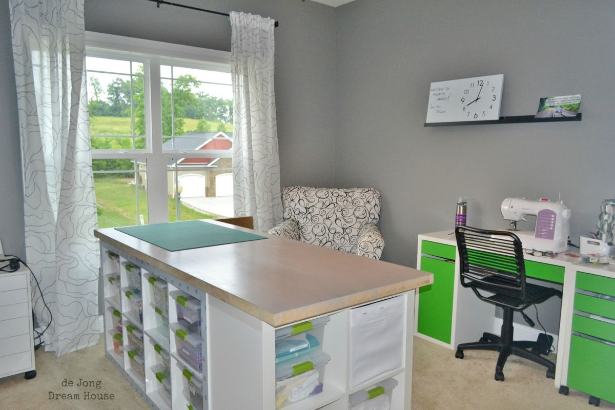 Kallax Workstation Craft Tables With Storage Attempting To Organize Your