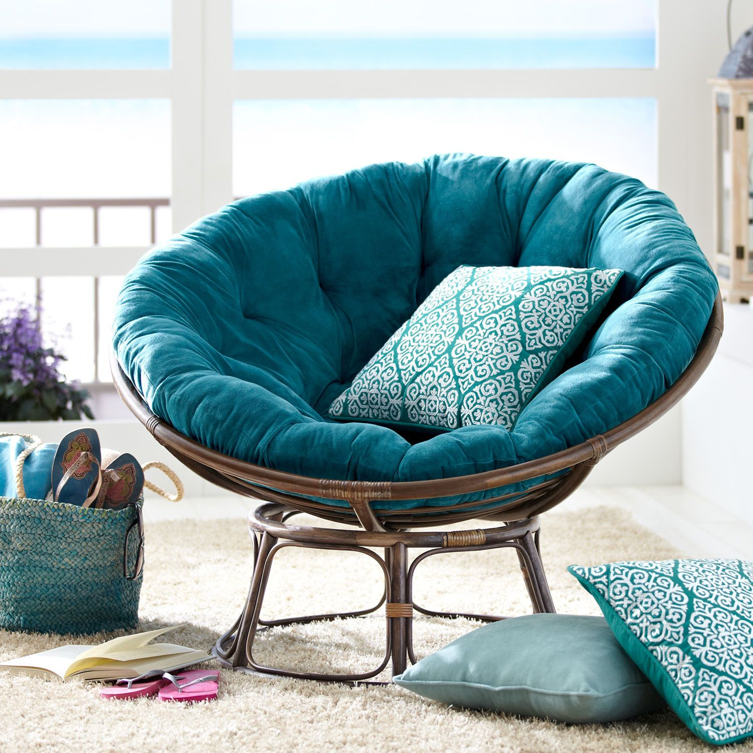 Teen Chair And Ottoman The Papasan Chair A Design Classic With Many Different