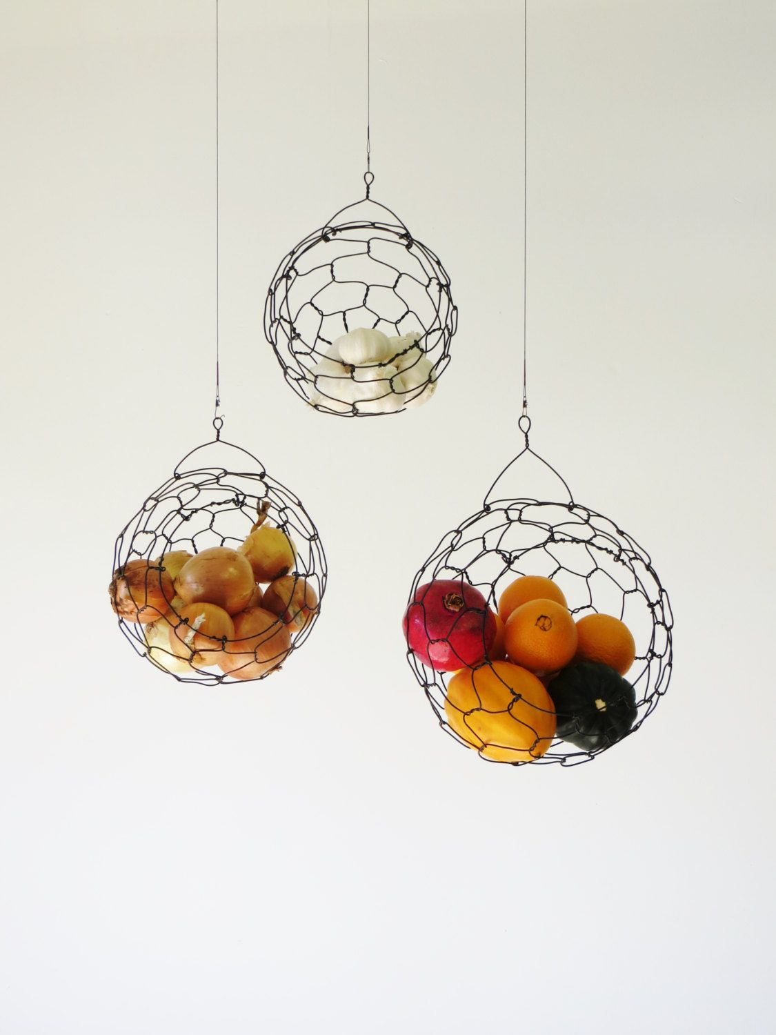 Wire Fruit Bowls Our New Obsession Hanging Fruit Baskets