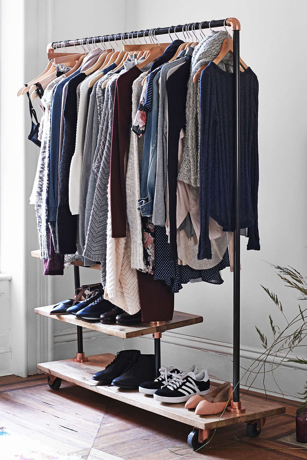 Industrial Clothing Rack Keep Your Wardrobe In Check With Freestanding Clothing Racks