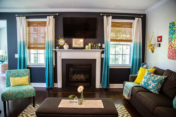 Our Current Obsession u2013 Turquoise Curtains - turquoise curtains for living room