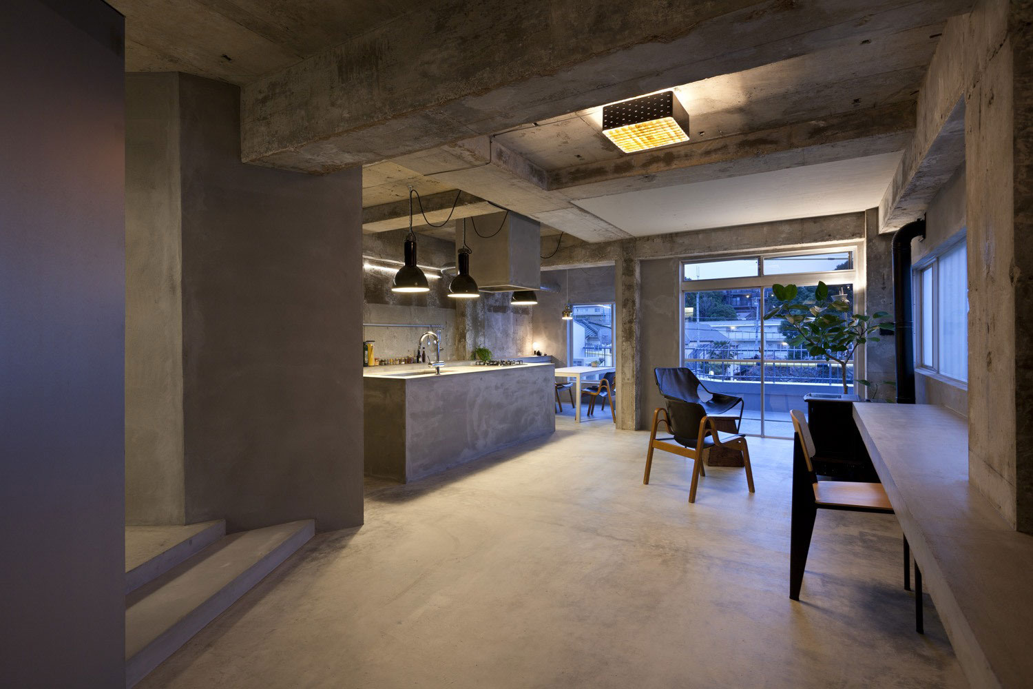 Concrete House Interior Concrete House With Raw Beauty And An Eye For Fashion