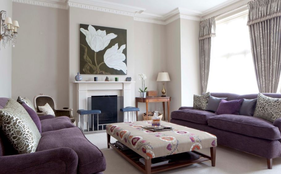 How To Match A Purple Sofa To Your Living Room Décor - purple living room set