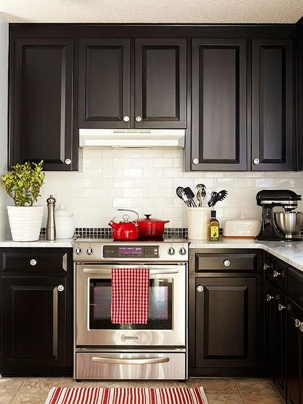 How To Clean Quartz Countertops One Color Fits Most: Black Kitchen Cabinets