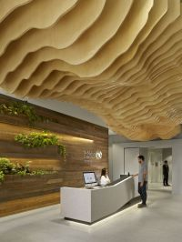 Wooden Ceilings With Wavy And Sophisticated Designs