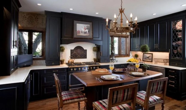 color fits black kitchen cabinets