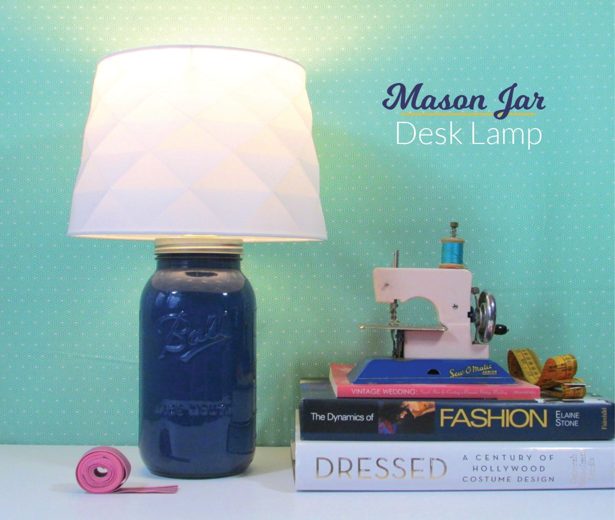 Glass Jar Lamp Shade Diy Mason Jar Desk Lamp