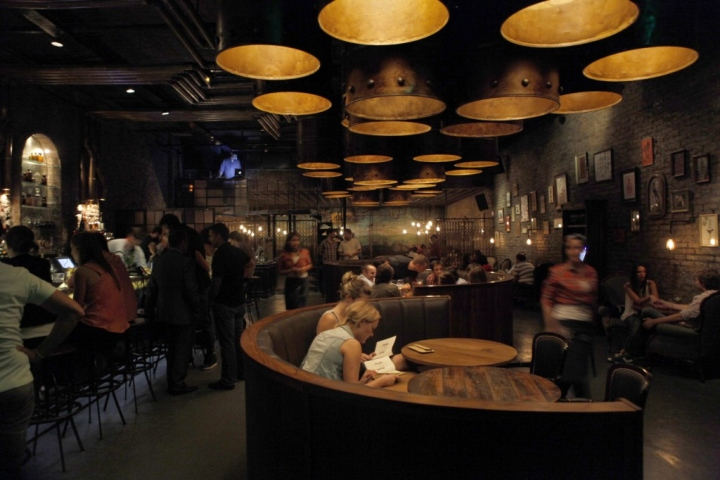 Edison Bulb Light Fixtures Victoria Brown Steampunk Bar Gives Industrial Style A