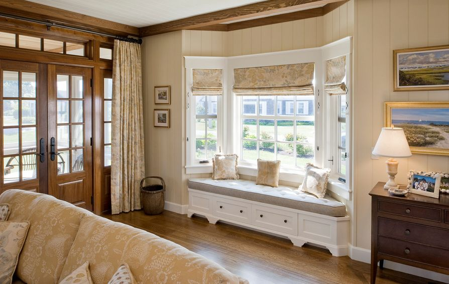 How To Solve The Curtain Problem When You Have Bay Windows - living room windows