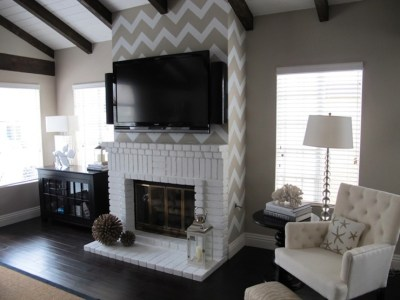 How To Wallpaper A Space Using A Chevron Pattern