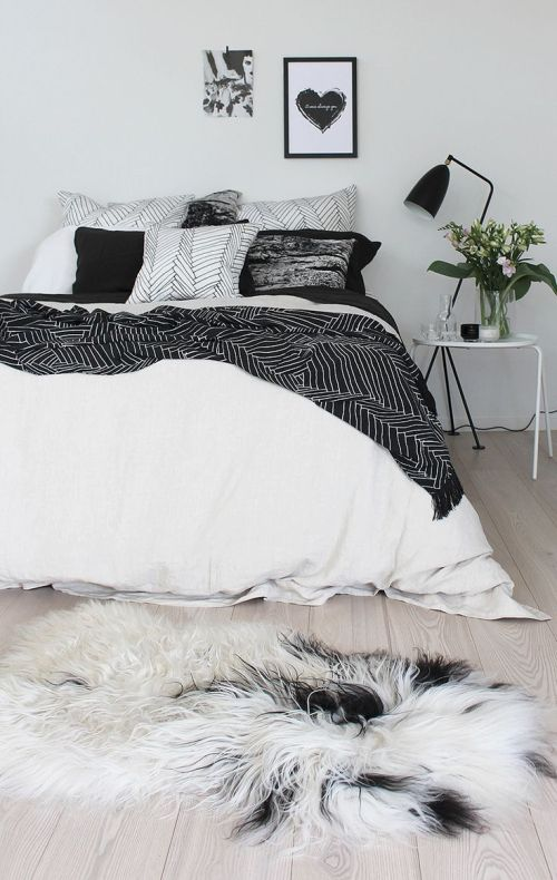 Medium Of Black And White Bedding