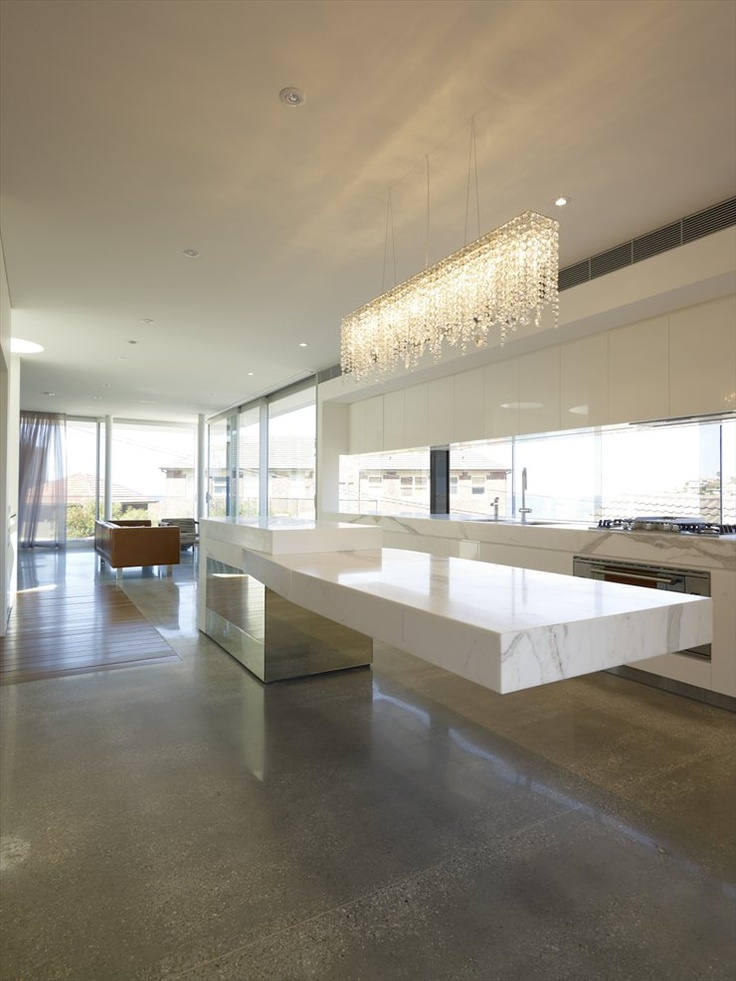 Kitchen Island Bar Height Cantilevered Tables Floating In Modern Luxury Homes