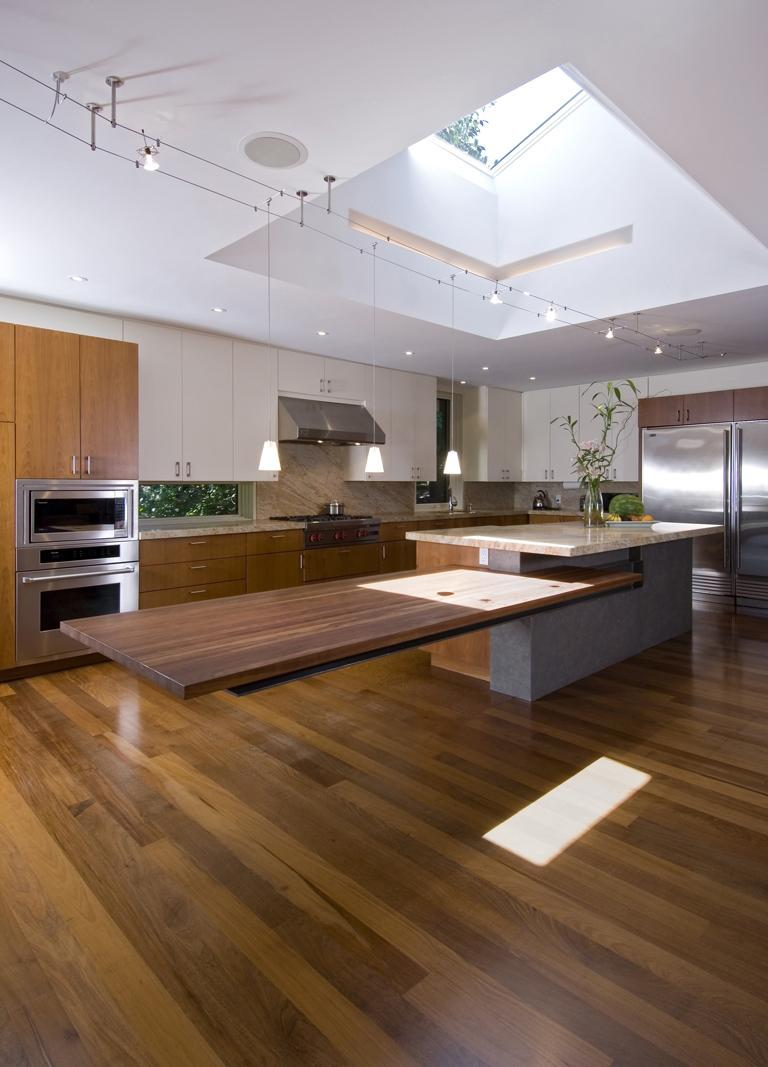 Kitchen Island Bench Ideas Cantilevered Tables Floating In Modern Luxury Homes
