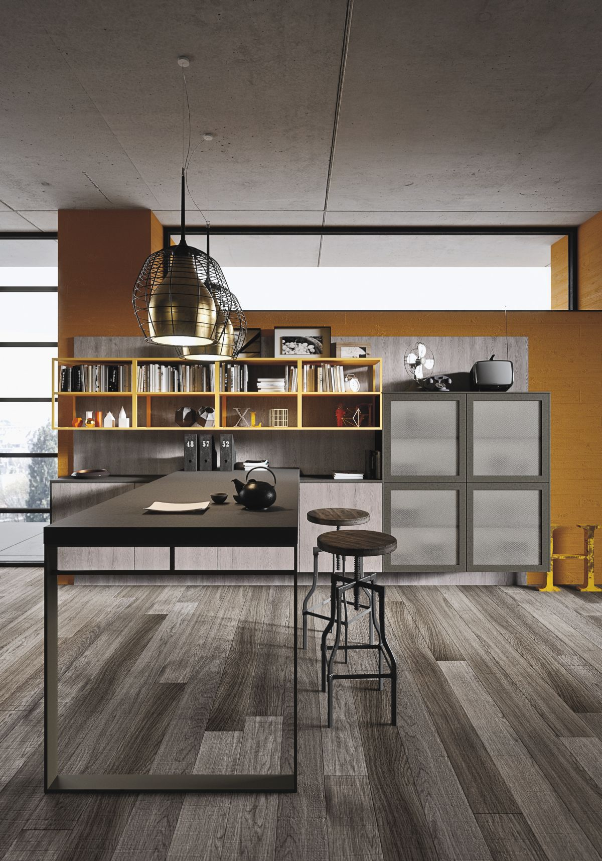 Industrial Rustic Kitchen Design Industrial And Rustic Designs Resurfaced By The New Loft