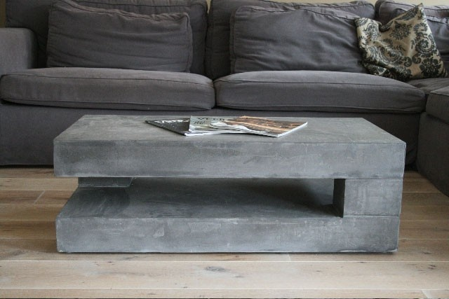 Couchtisch Quadratisch Industrial Concrete Coffee Tables You Can Buy Or Build Yourself
