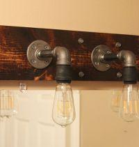 DIY Industrial Bathroom Light Fixtures