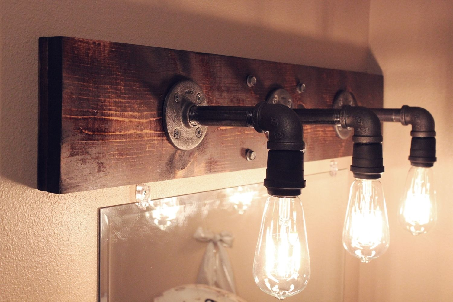 Industrial Style Bathroom Light Fixtures Diy Industrial Bathroom Light Fixtures Home Decor