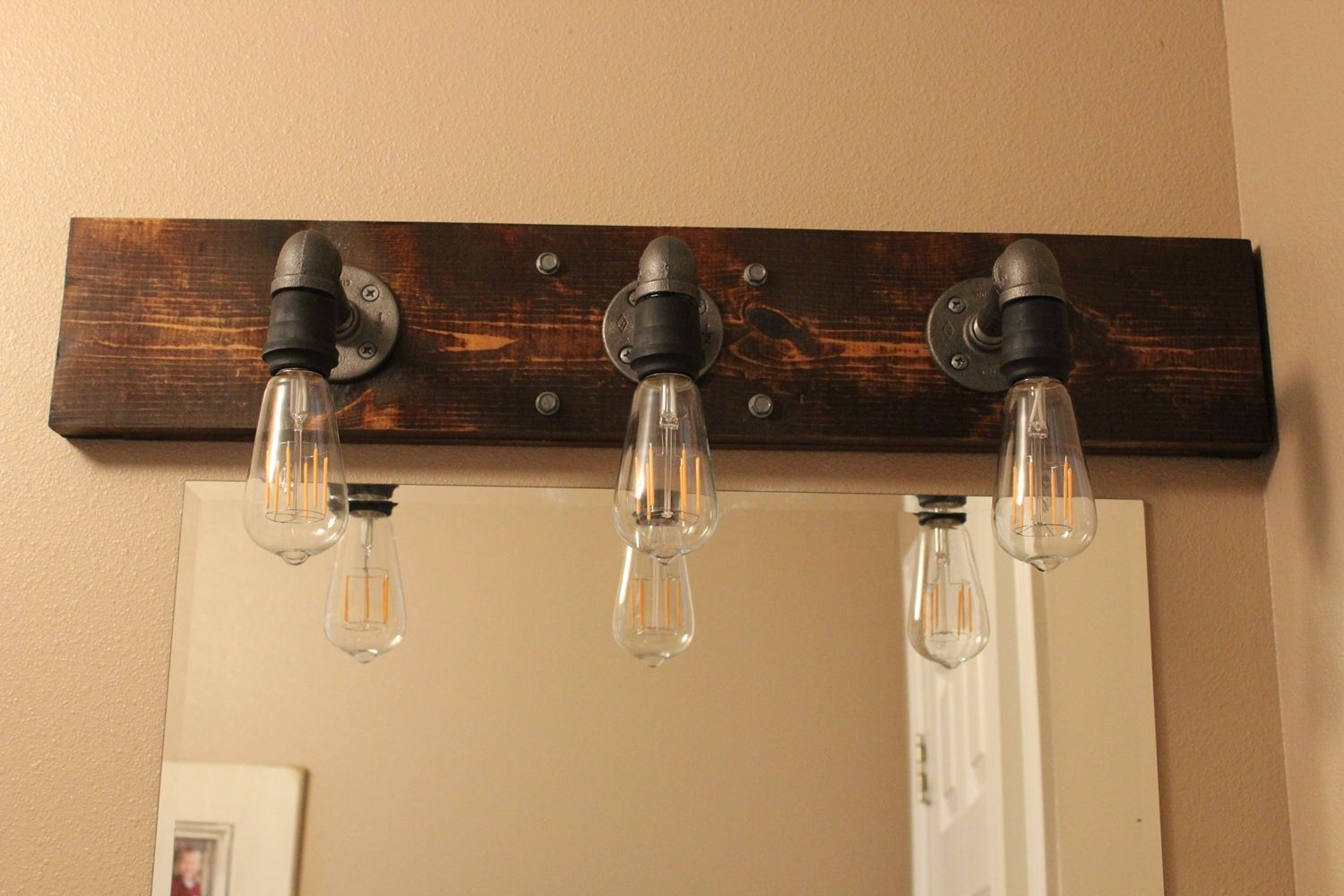 Industrial Style Bathroom Light Fixtures Diy Industrial Bathroom Light Fixtures