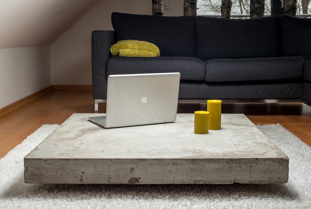 Couchtisch Robust Concrete Coffee Tables You Can Buy Or Build Yourself