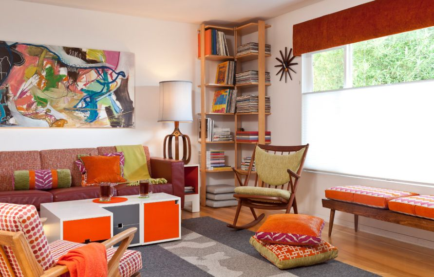 How to Style Your Corner Shelving Systems - living room corner shelf