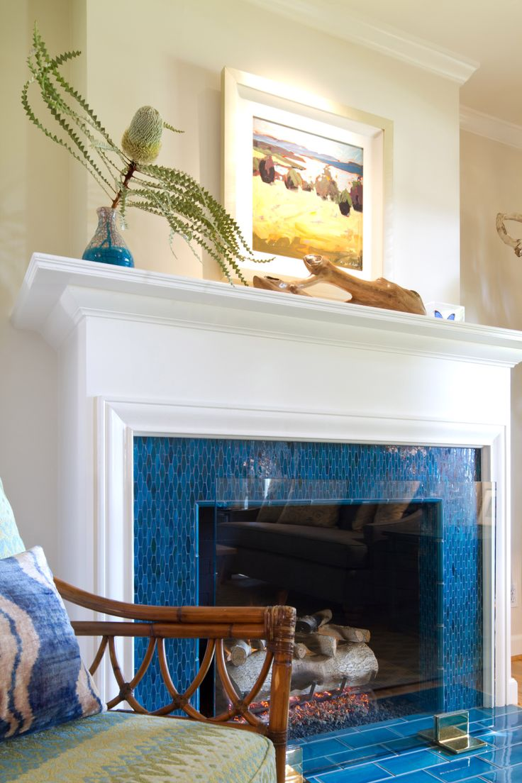 Blue Fireplace 20 Nature-loving Fireplace Ideas