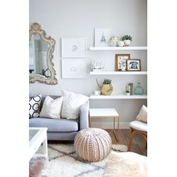 Small Crop Of Floating White Wall Shelves