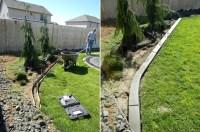Concrete Garden Edging Tools. custom made blue glass ...