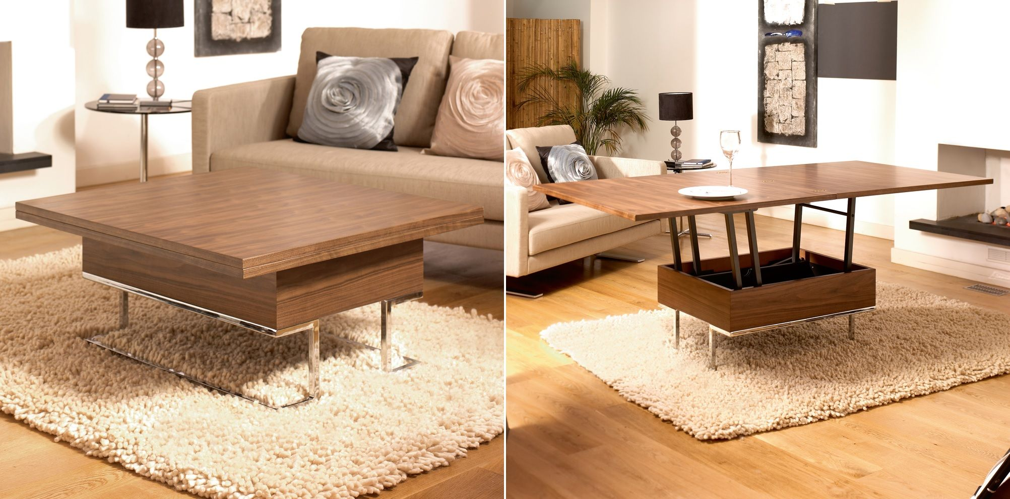 Coffee Table And Dining Table In One More Functions In A Compact Design Convertible Coffee Tables