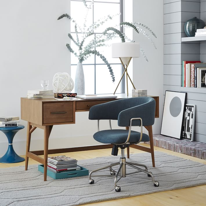Modern Computer Desk Designs That Bring Style Into Your Home - computer desk in living room