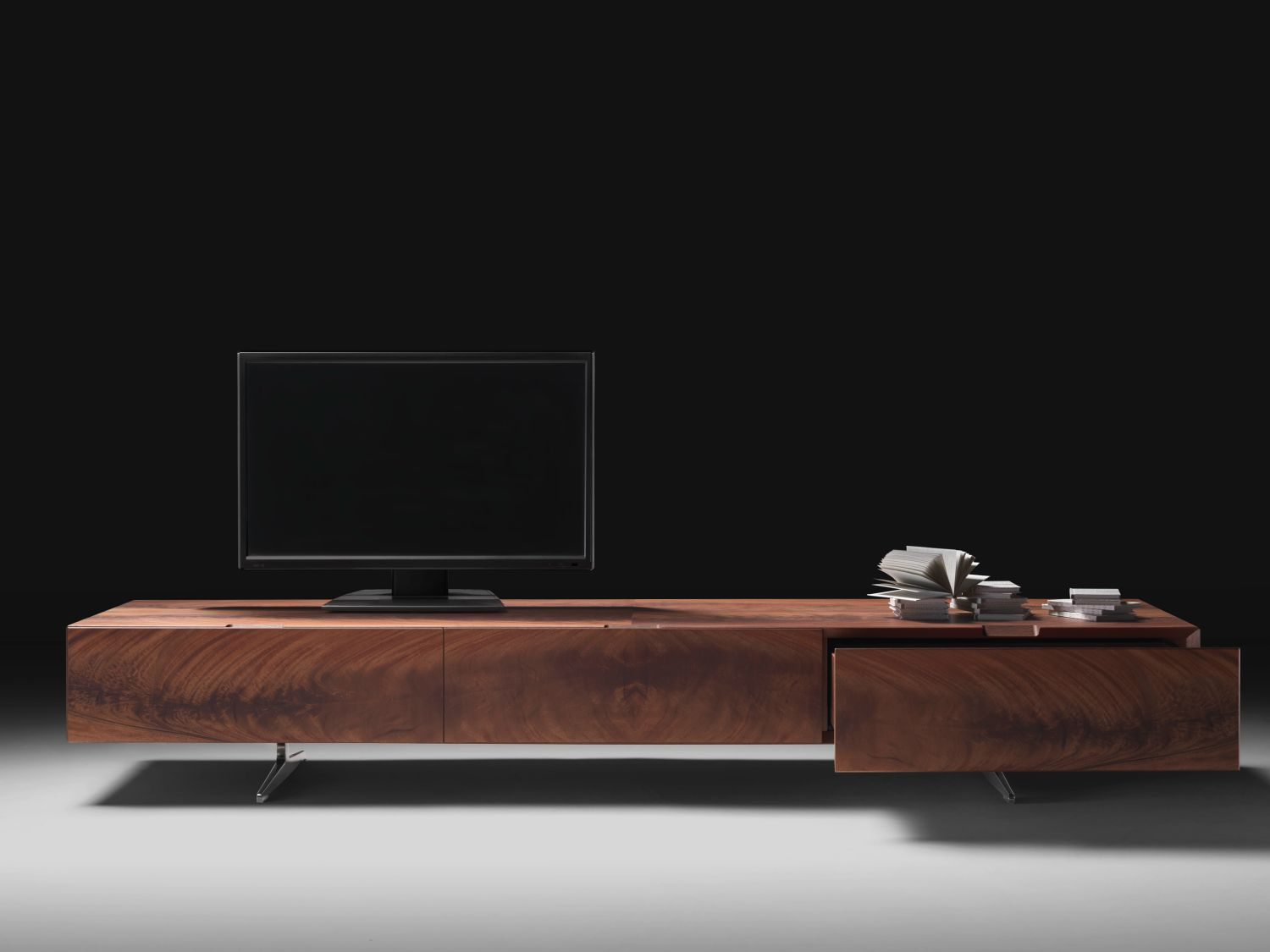 Slim Tv Unit Modern Media Console Designs Showcasing This Style 39s Best