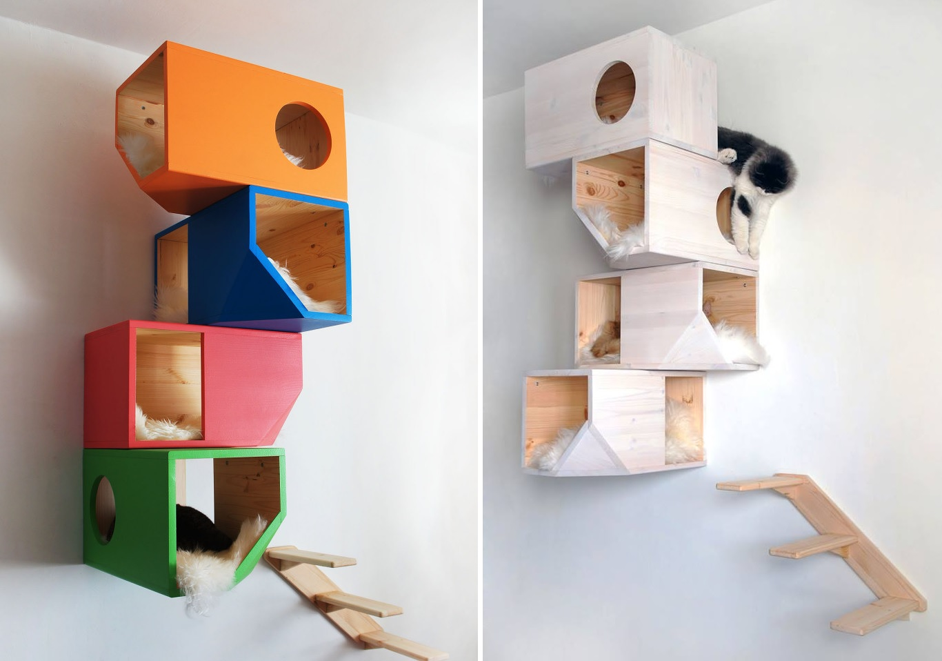 Modern Cat Shelves Modern Cat Tree Alternatives For Up To Date Pets