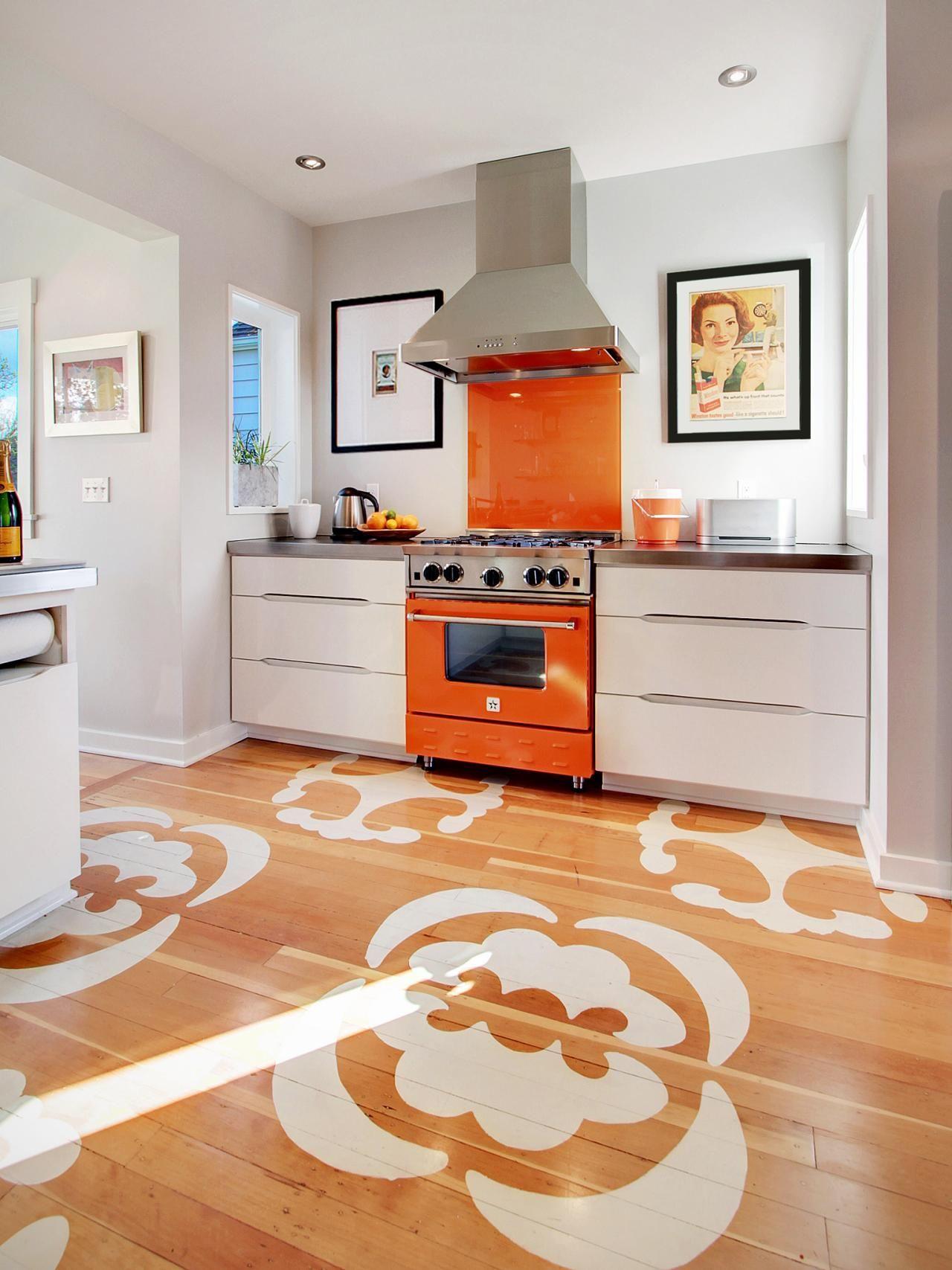 best options for kitchen flooring kitchen floors Stencil the kitchen floor
