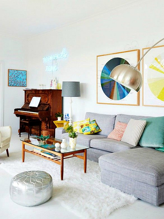 50 Key Components to Decorating Your Entire Home - poufs for living room