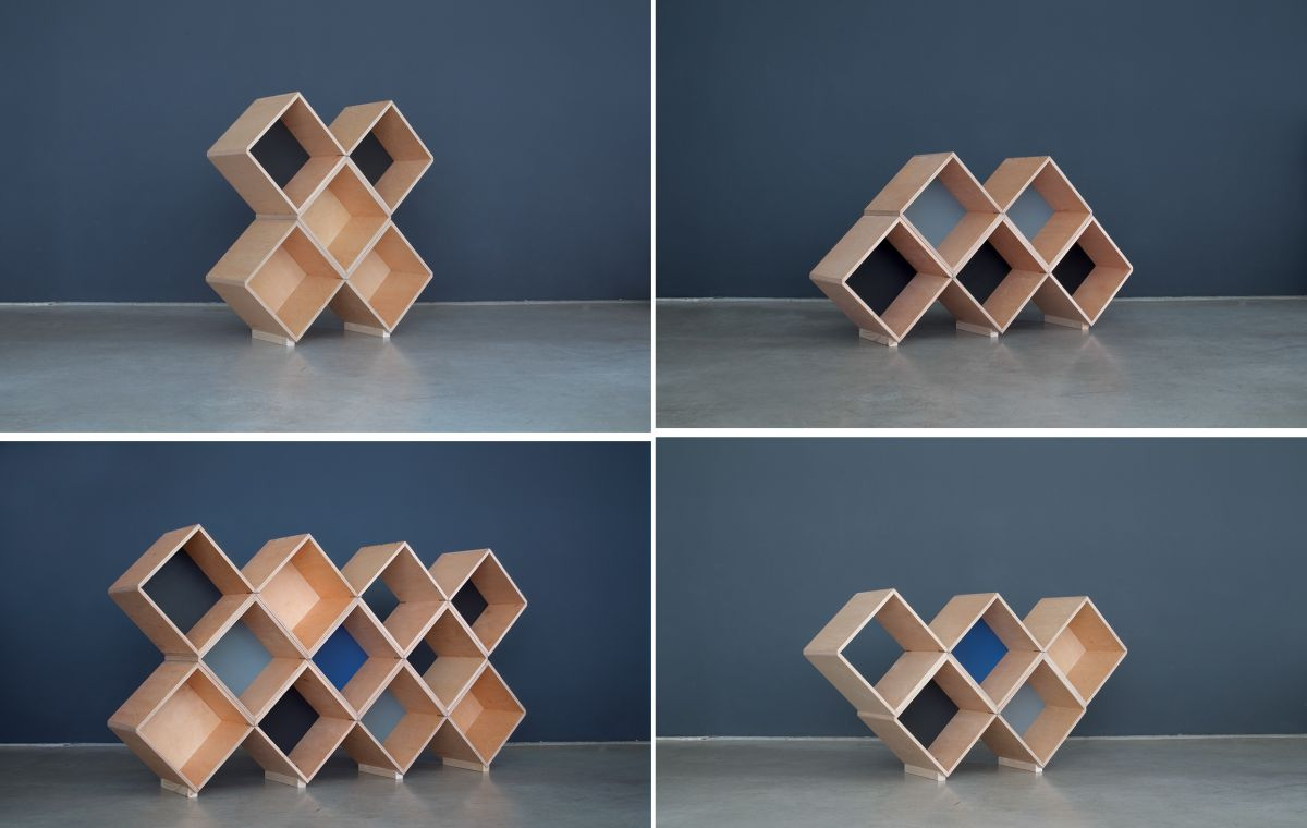 Modular furniture system stackable decor