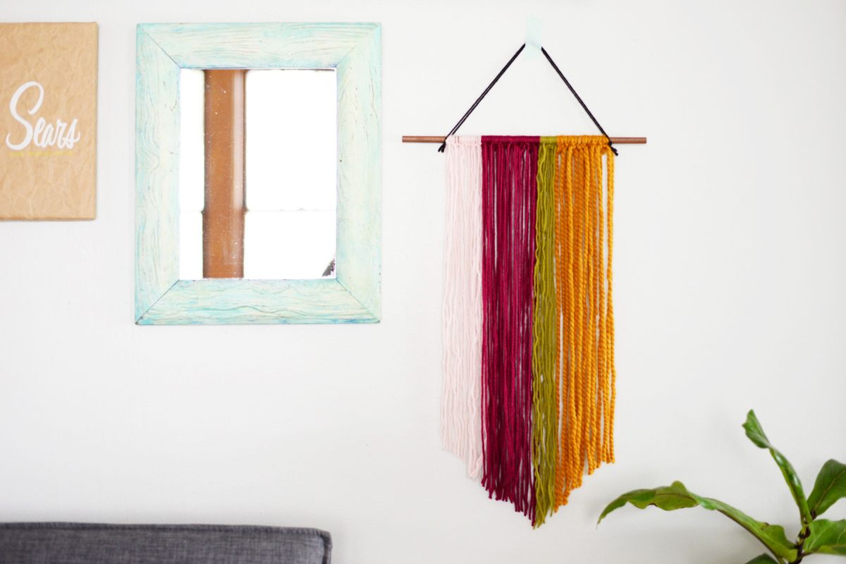 Hanging Wall Decor Ideas Diy String Wall Art