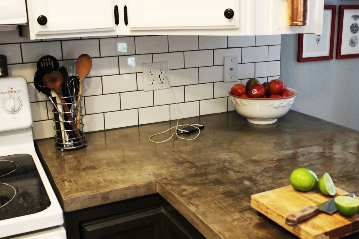 install a usb wall charger kitchen countertop tile