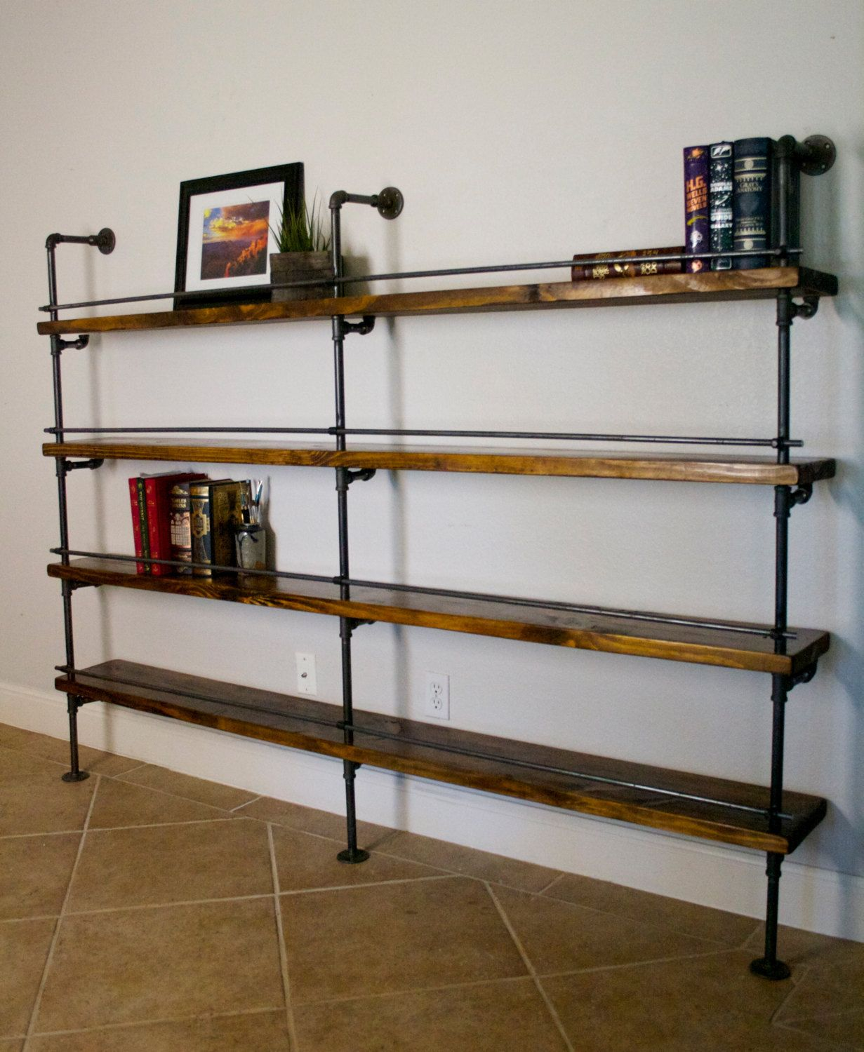 Decorative Industrial Shelving How To Select And Decorate With An Industrial Bookcase