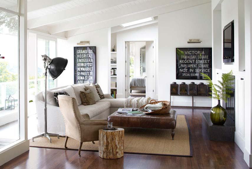 How To Blend Modern and Country Styles Within Your Homeu0027s Decor - modern country living room