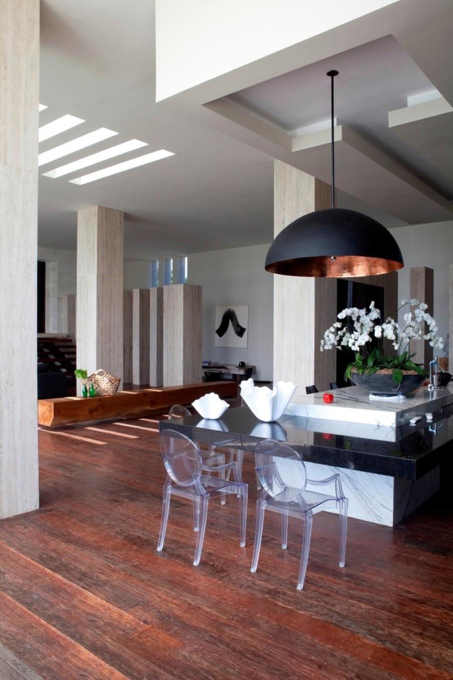 trendy copper pendant light kitchen lights over table Oversized lamp over the kitchen island