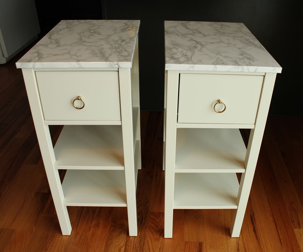 Contact Paper For Furniture Diy Nightstand Upgrade With Marble Contact Paper