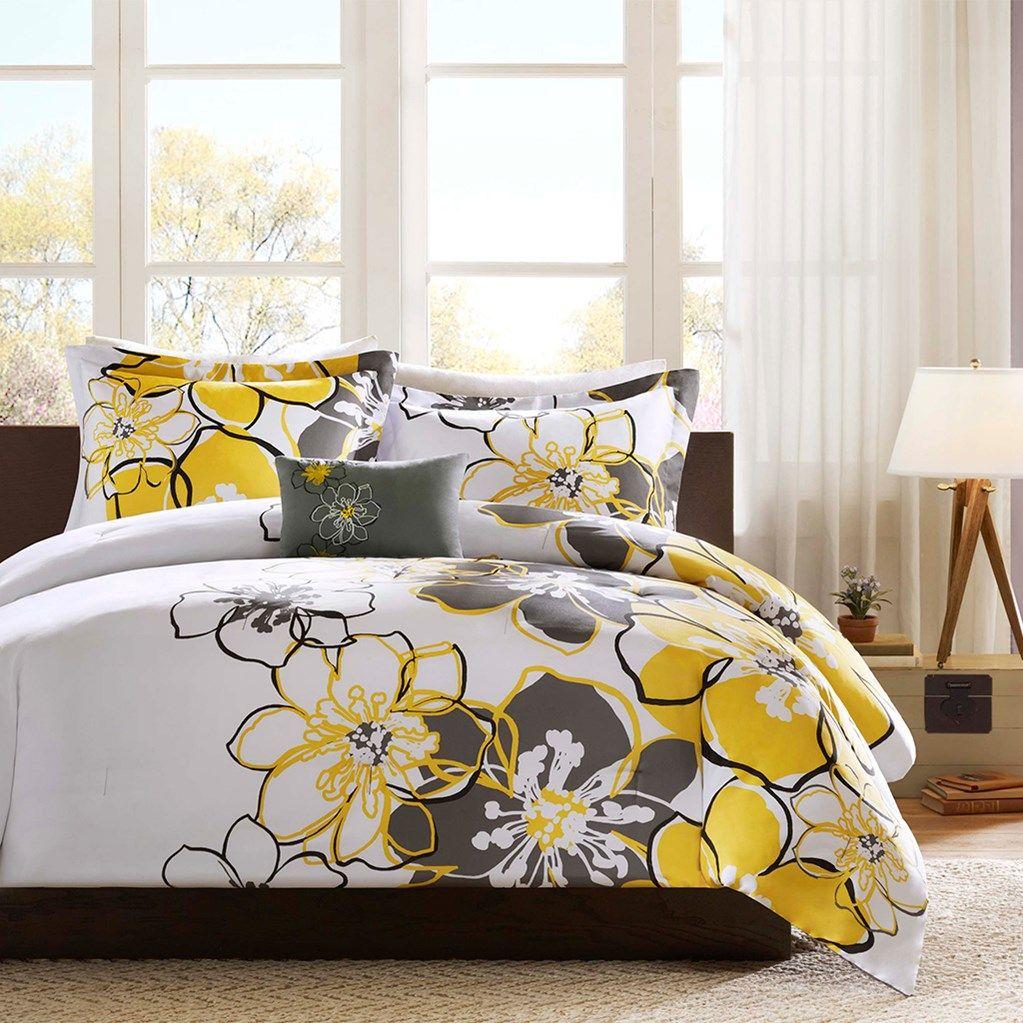 Large floral bedding