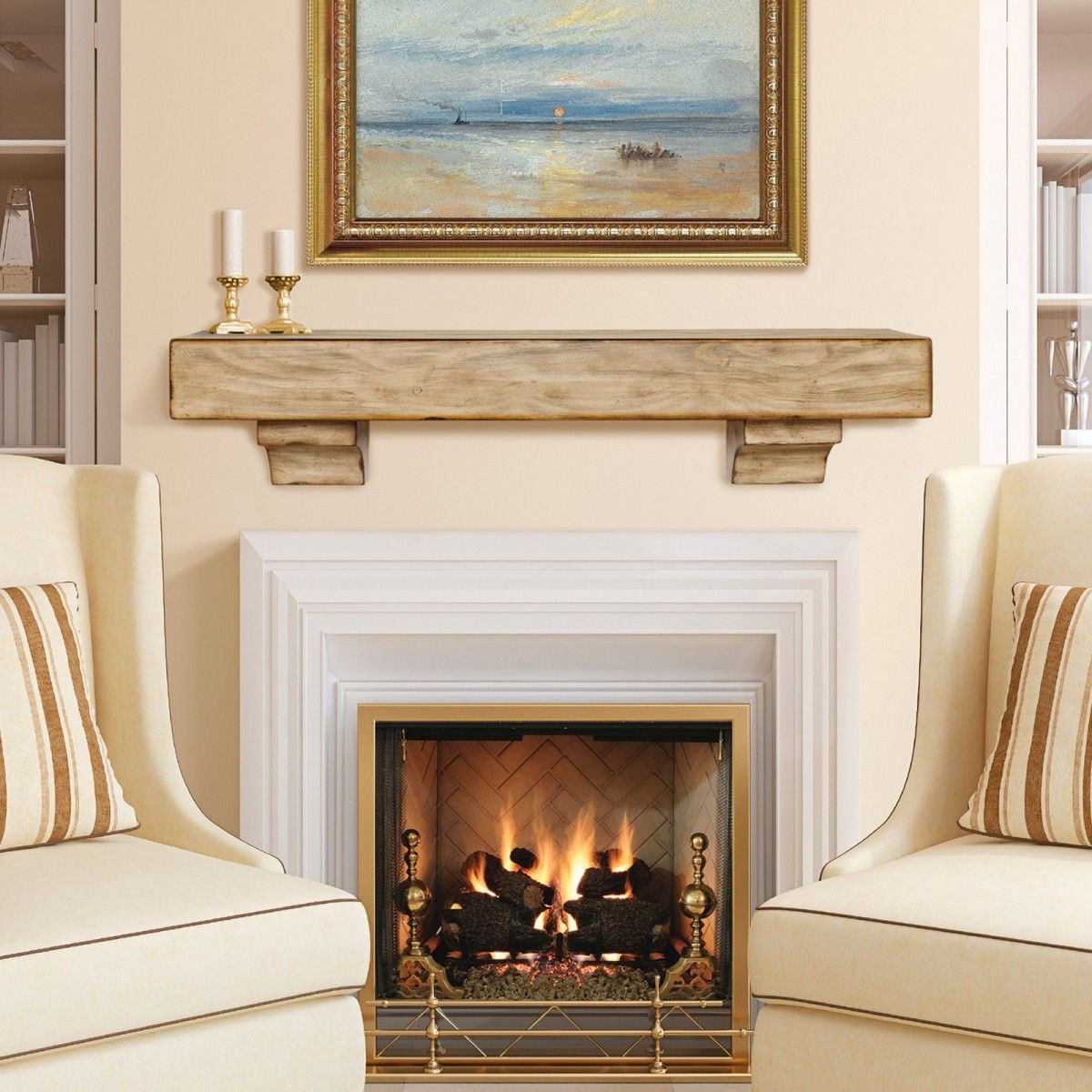 Fireplace Mantel Decor With Tv Simple And Sophisticated Fireplace Mantel Ideas