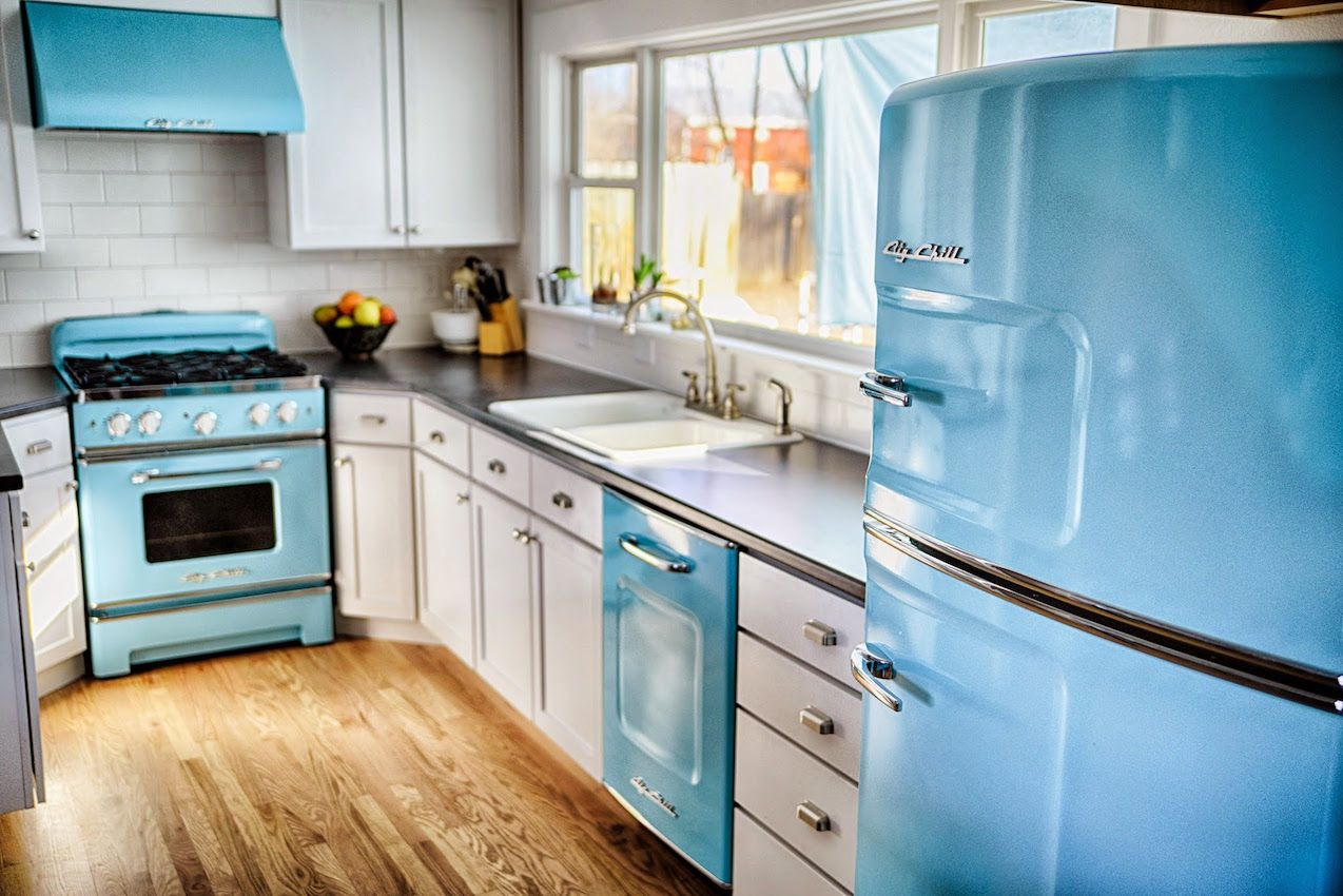 Blue In Kitchen Big Chill Colorful Appliances Home Decorating Trends