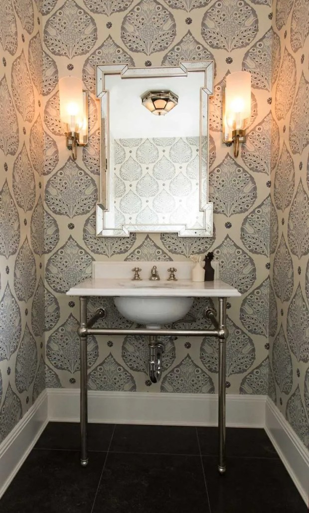 gorgeous wallpapered bathrooms wallpaper for