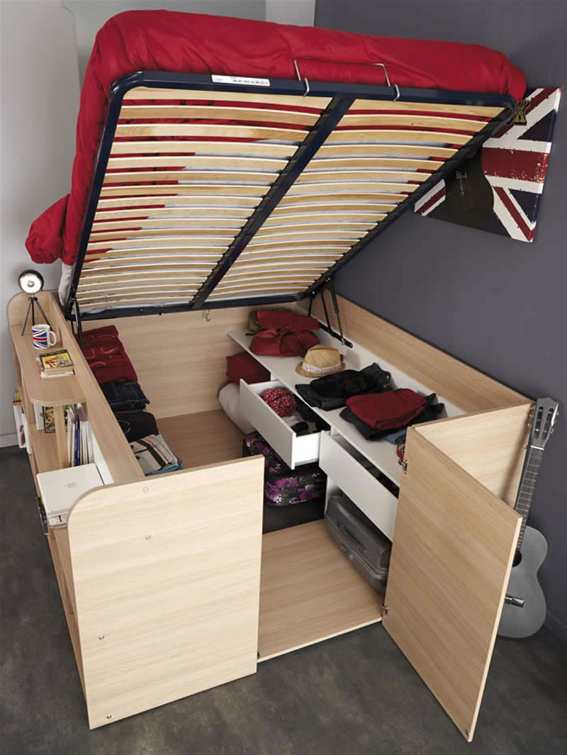 Under Bed Storage Frame Clever Bed Designs With Integrated Storage For Max Efficiency